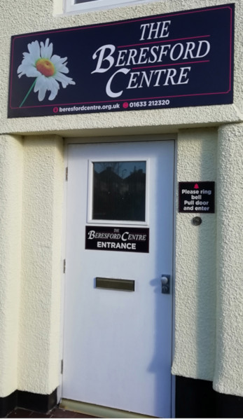 Picture showing the Beresford Pregnancy Counselling Centre entrance door